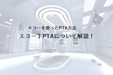エコーを使ったPTA方法、エコー下PTAについて解説!